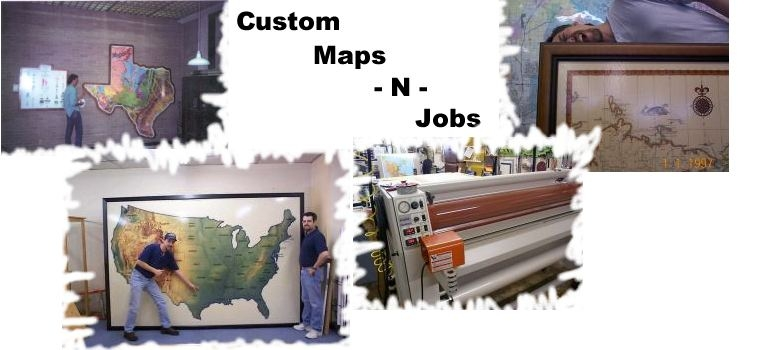 You name it and we can maybe possibly pull it off. Huge custom office maps, framing jobs, lamination, mounting, splicing, and even lawn mowing if the price is right!!