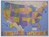 Hammond Collectors United States Wall Map