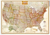 National Geographic U.S. highway Wall Map