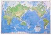 American Map Corporation Colorprint Physical World Wall Map