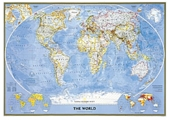 National Geographic Political World Wall Map